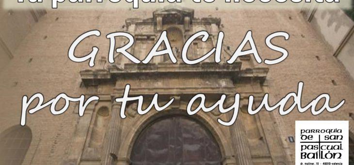 Ayuda a tu parroquia San Pascual Baylon