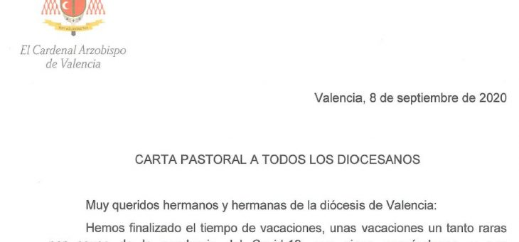 Carta pastoral Arzobispo 8-sep-20